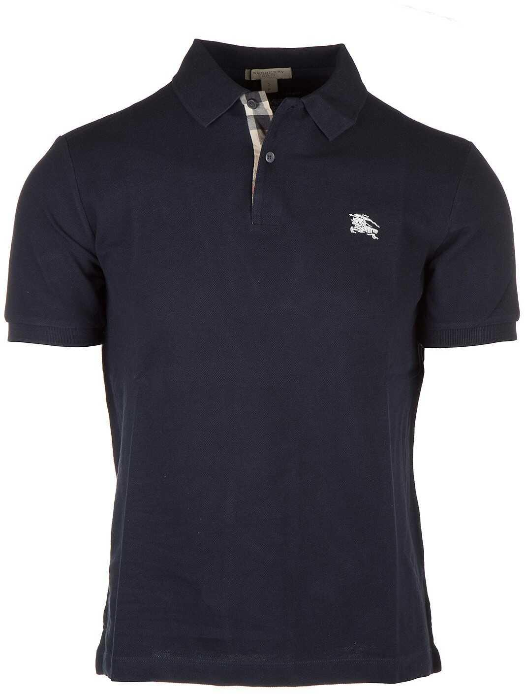 Burberry Polo Collar Blue