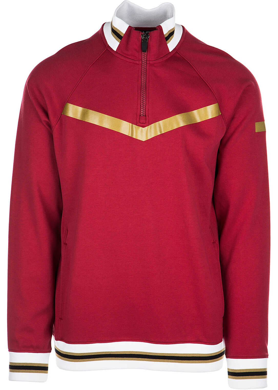 EA7 Zip Sweat Red