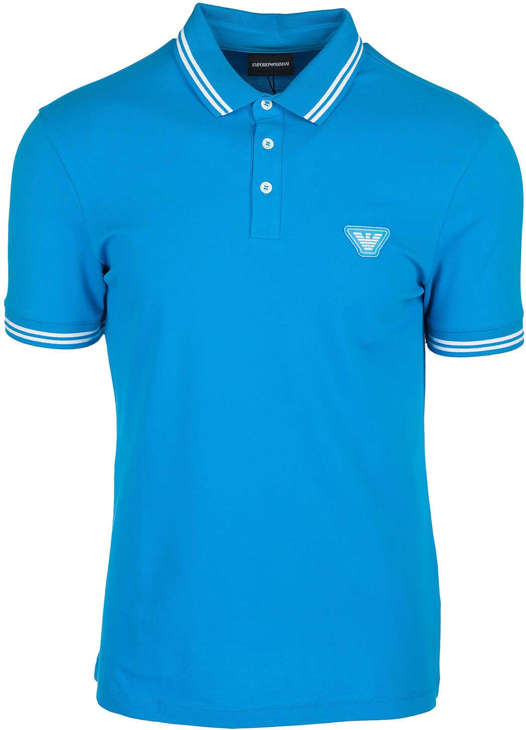 Emporio Armani Polo Collar Blue