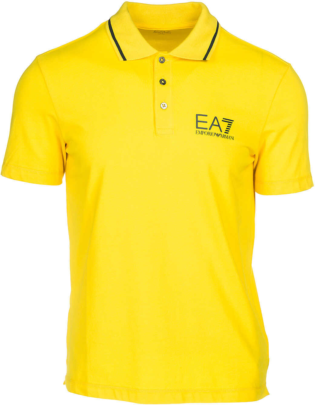 EA7 Polo Collar Yellow