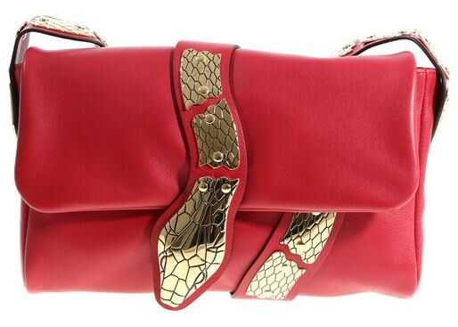 RED VALENTINO Red Shoulder Bag With Golden Snake Red
