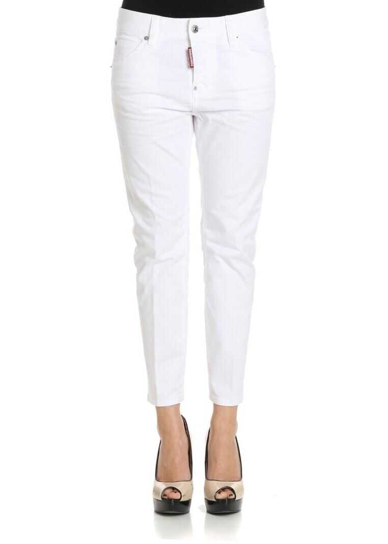 DSQUARED2 White Cool Girl Cotton Jeans White