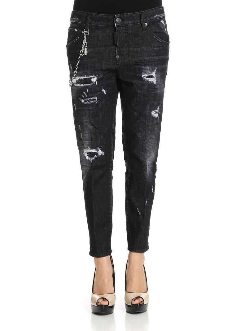 DSQUARED2 Black Cool Girl Cotton Jeans Black