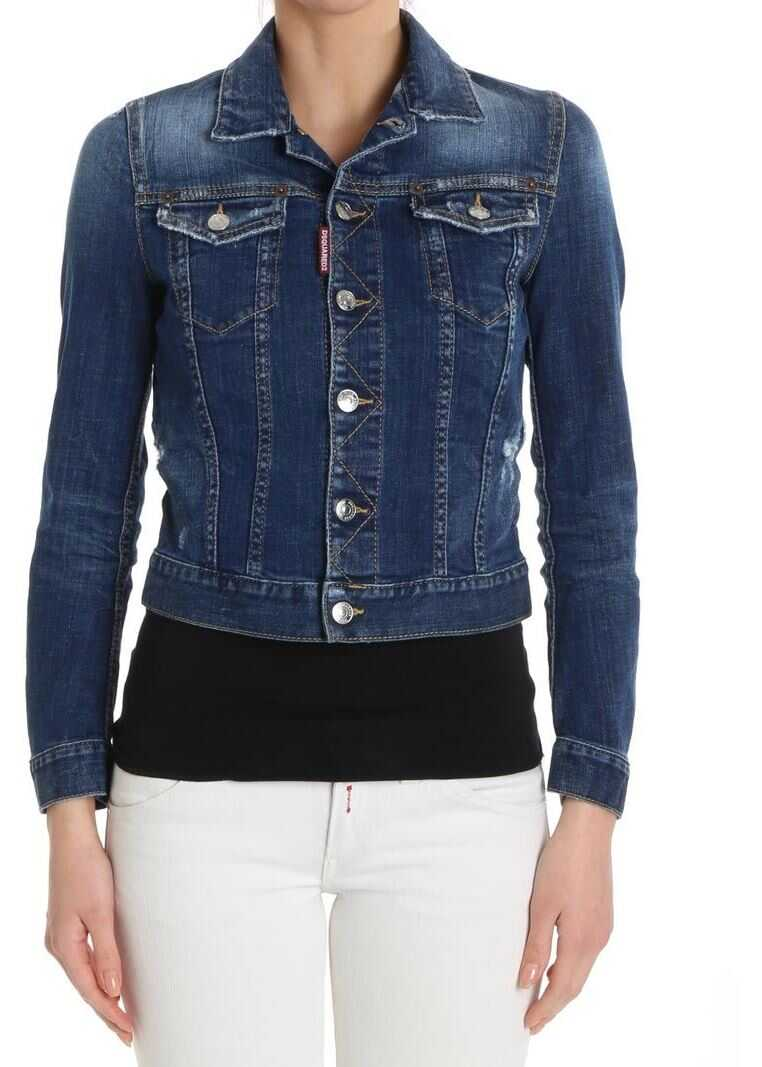 DSQUARED2 Blue Denim Jacket Blue