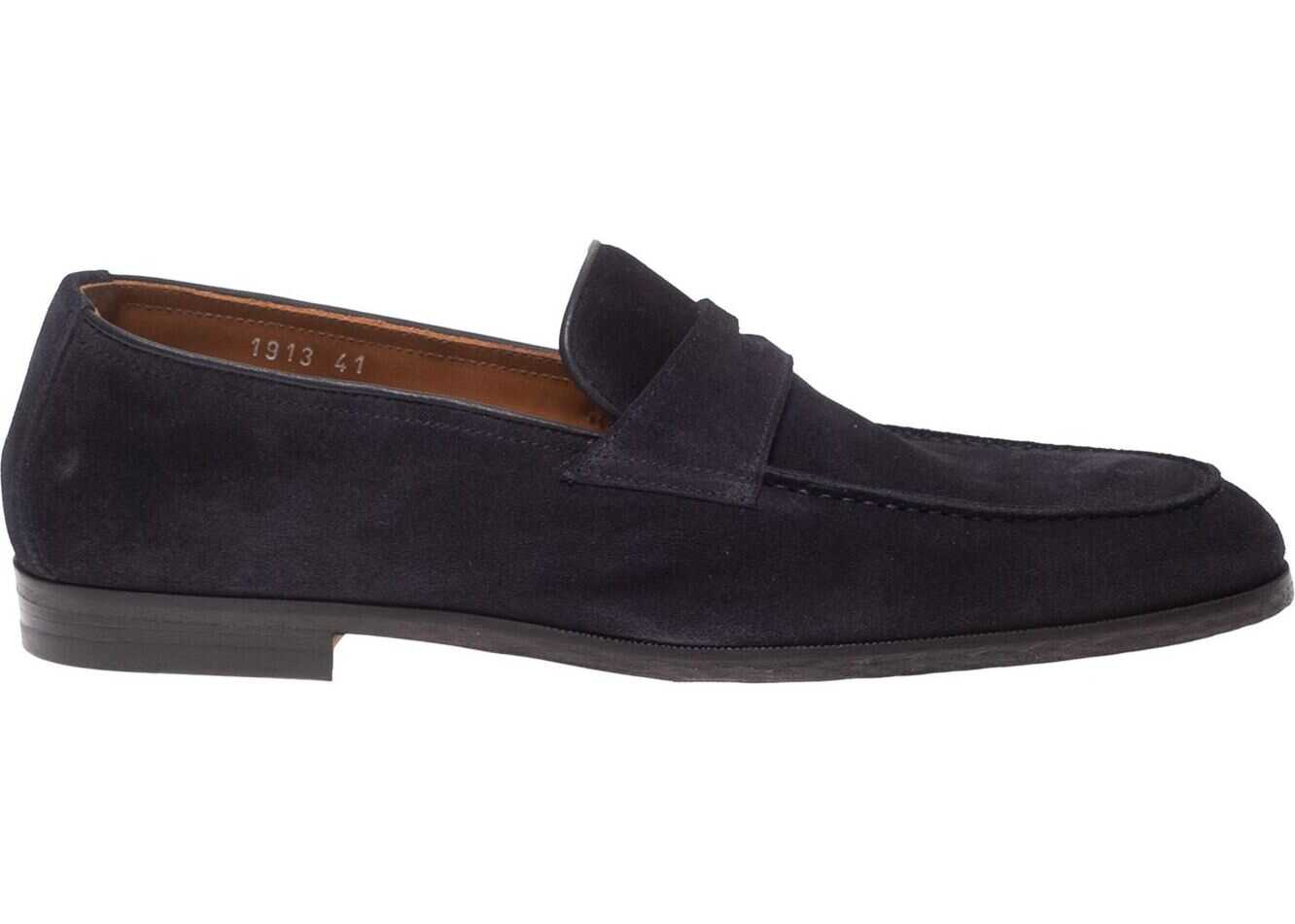 Doucals Blue Suede Loafers Blue