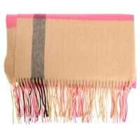 Esarfe Burberry Beige And Pink Cashmere Oversize Scarf