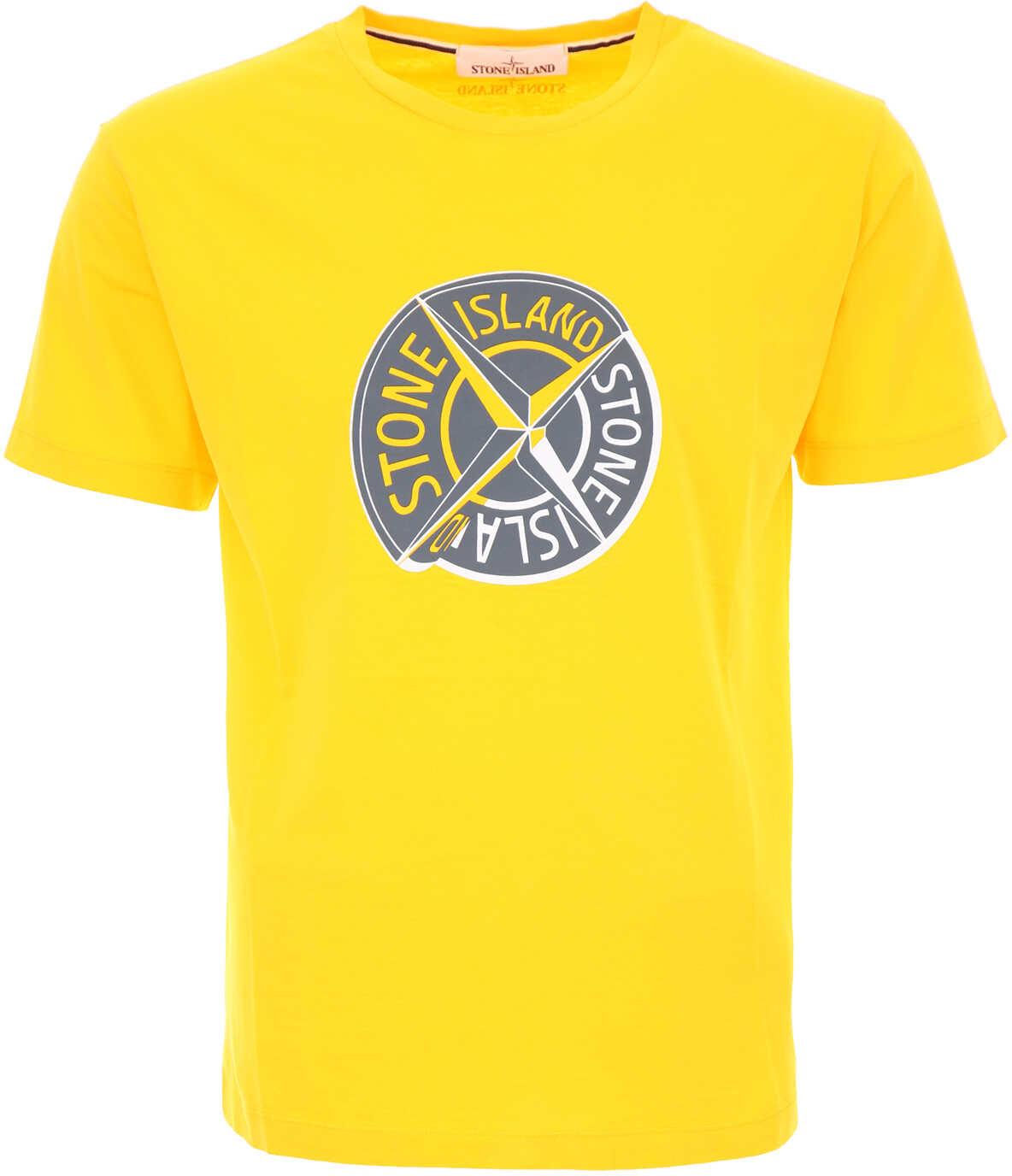 Stone Island Logo T-Shirt YELLOW