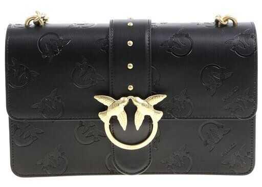 Pinko Love Imprime Shoulder Bag Black