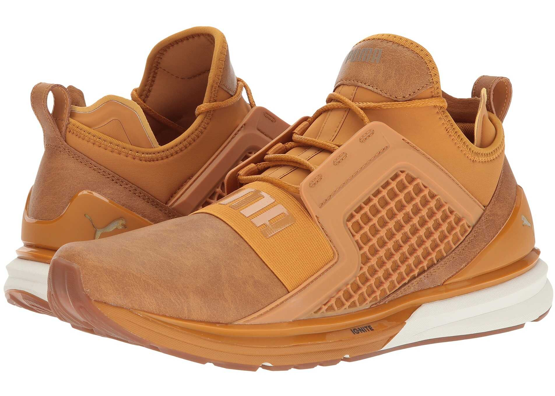 PUMA Ignite Limitless Leather Inca Gold/Gold