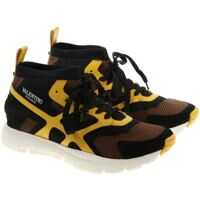 Sneakers Suond High Sneakers With Yellow Details Barbati