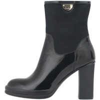 Ghete & Cizme Women's Dress Patent Ankle Boots In Black Femei