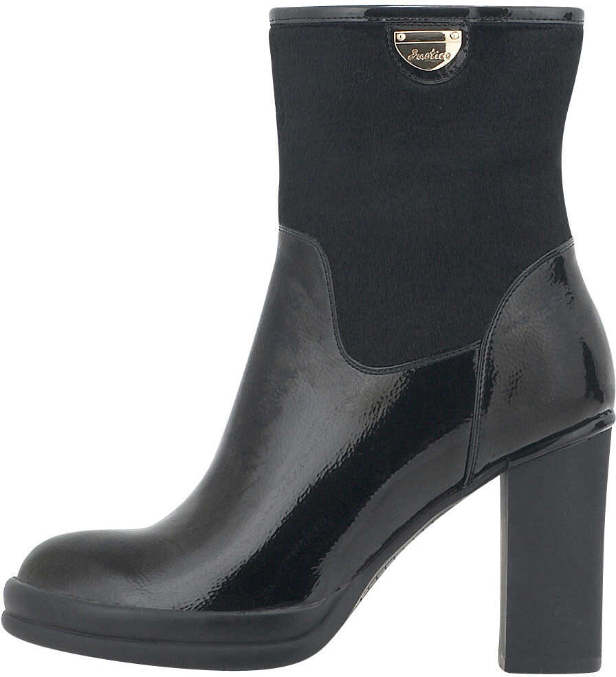 Nikki Me Womens Dress Patent Ankle Boots In Black Black