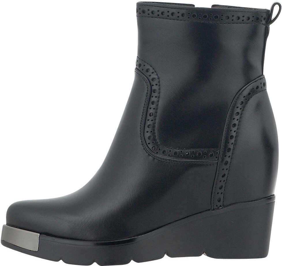 Nikki Me Womens Dress Wedged Boots In Black Black