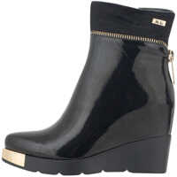 Ghete & Cizme Women's Dress Patent Wedged Boots In Black Color Femei