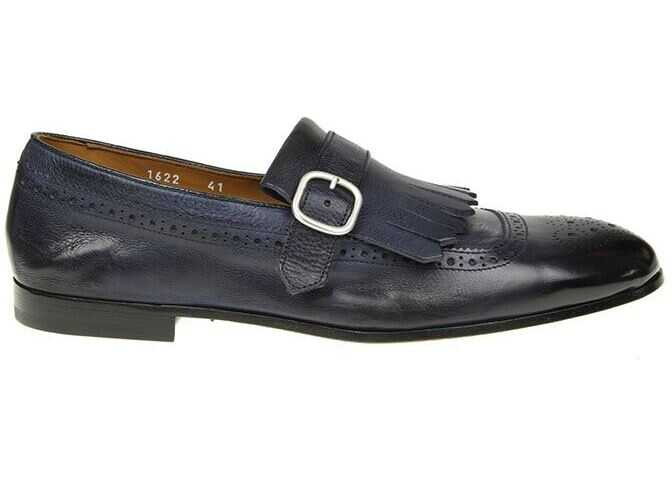 Doucals Blue And Black Single-Strap Shoes Blue