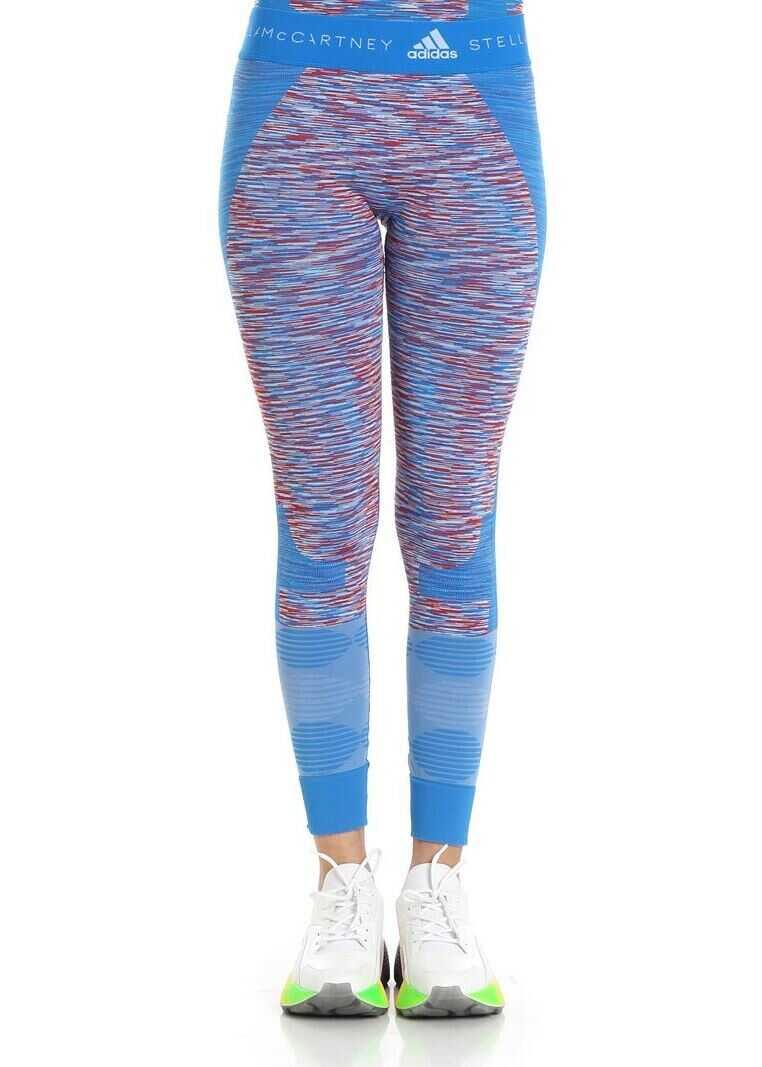 adidas by Stella McCartney Light-Blue Dye Seamless Space Yoga Leggings Light Blue