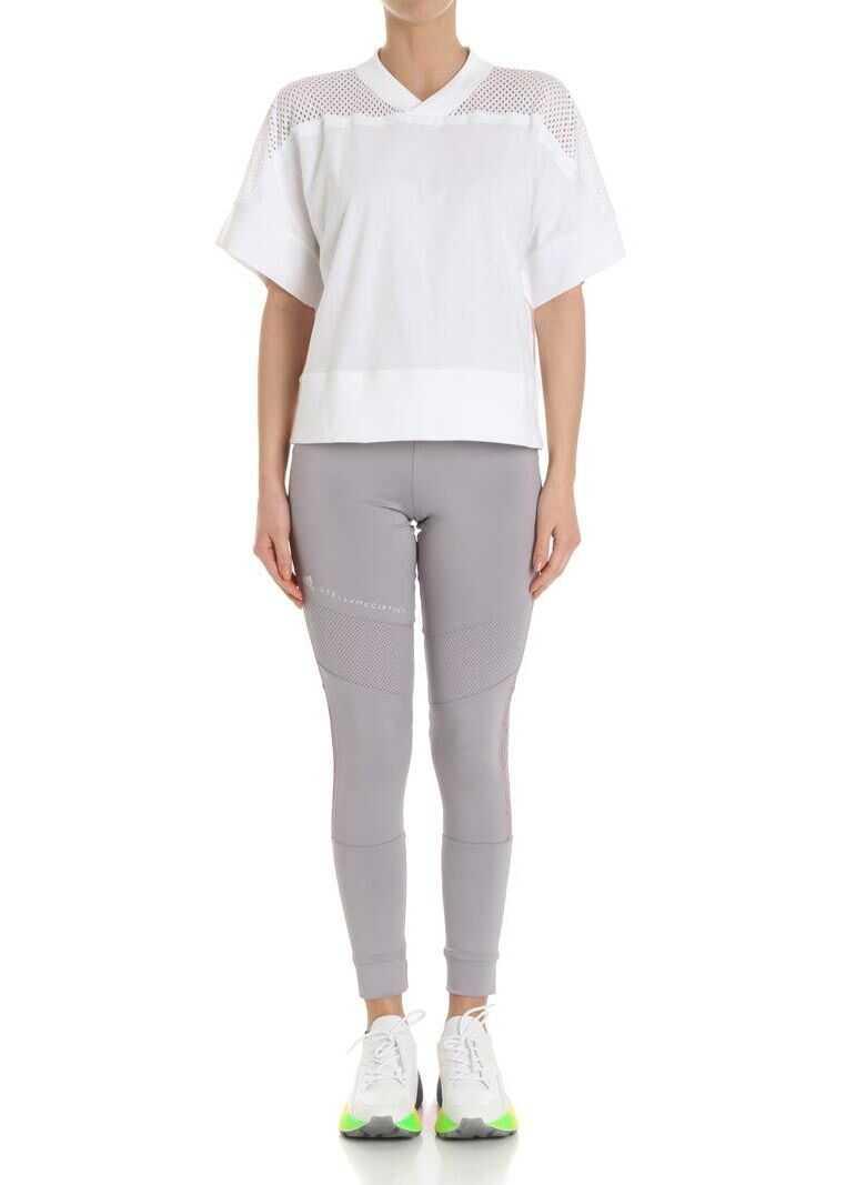 adidas by Stella McCartney White Training White Mesh T-Shirt White