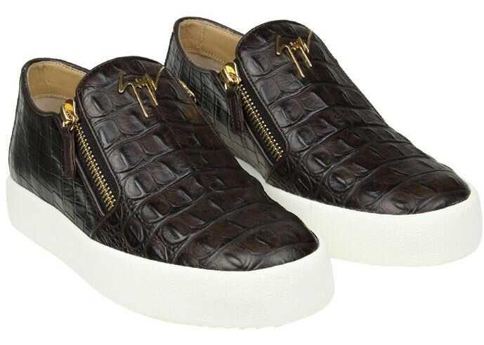Giuseppe Zanotti May Leather Slip On Brown