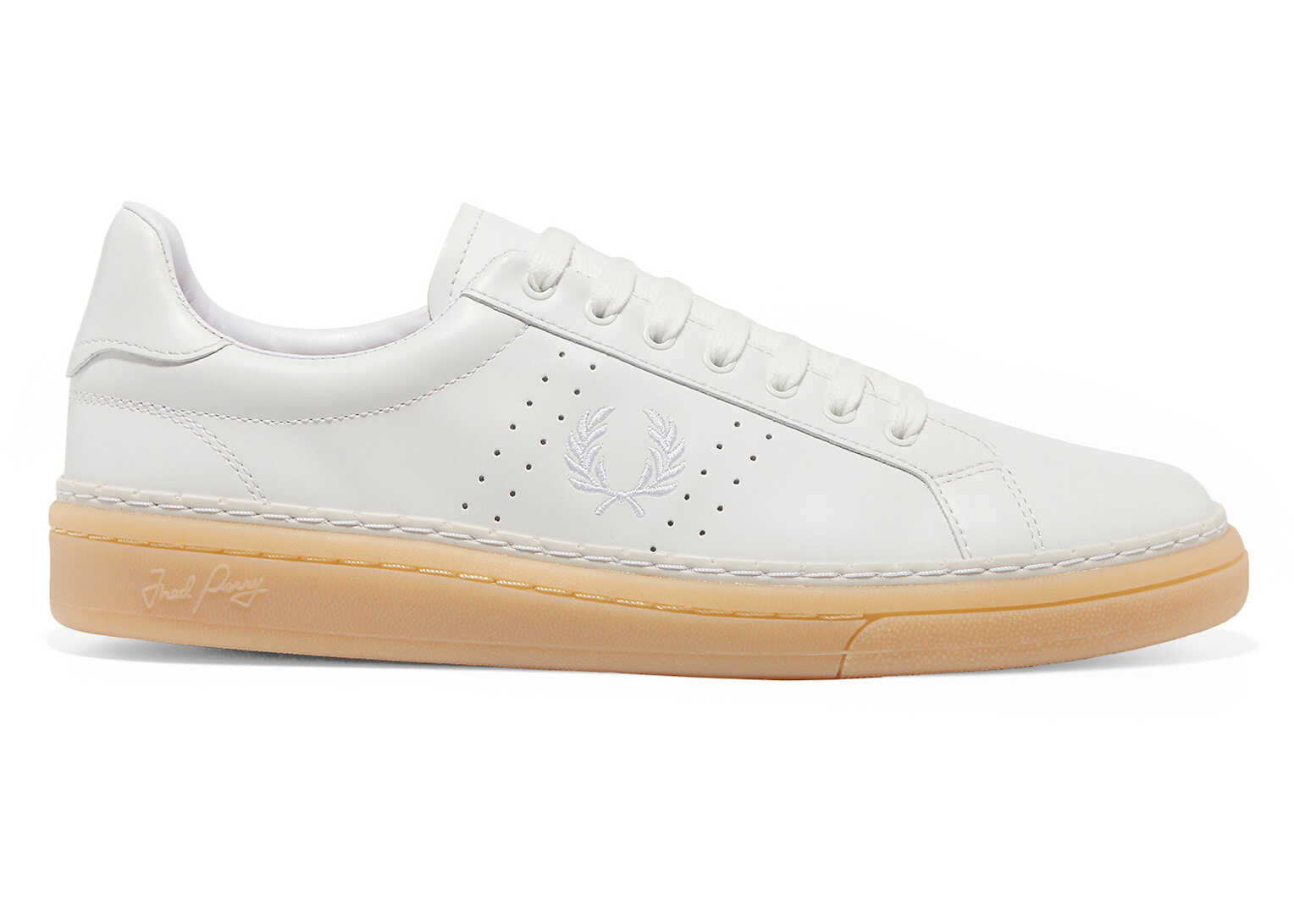 Fred Perry B721 Mens Leather White Tennis Shoes* White