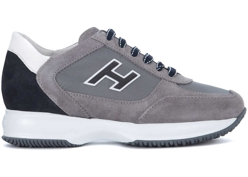 Hogan Interactive Grey Suede Sneaker Grey