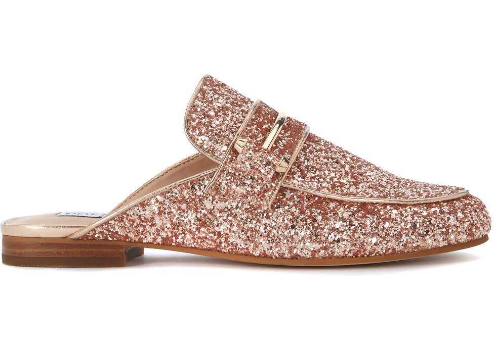 Steve Madden Kera Pink Glitter Mules White