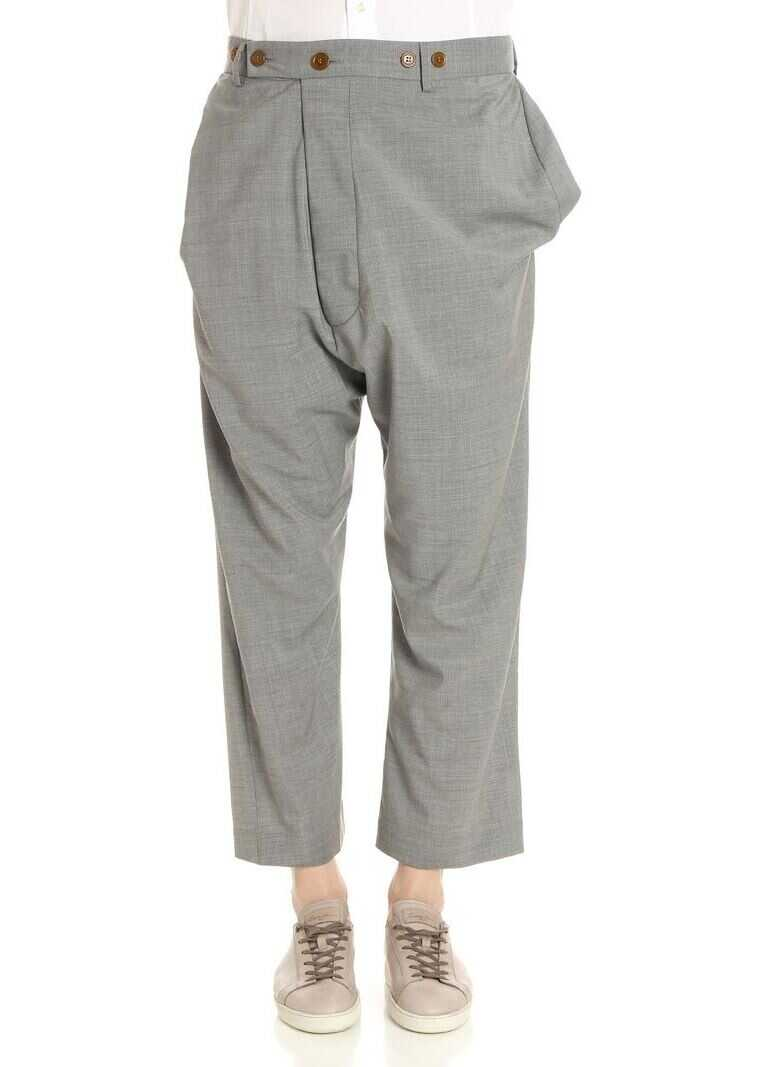 Vivienne Westwood Grey Low Crotch Trousers Grey