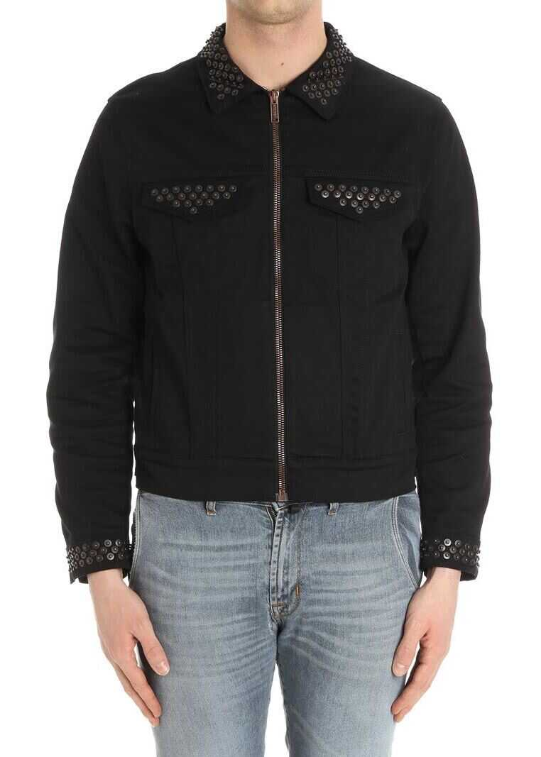 Moschino Black Jacket With Applied Buttons Black imagine
