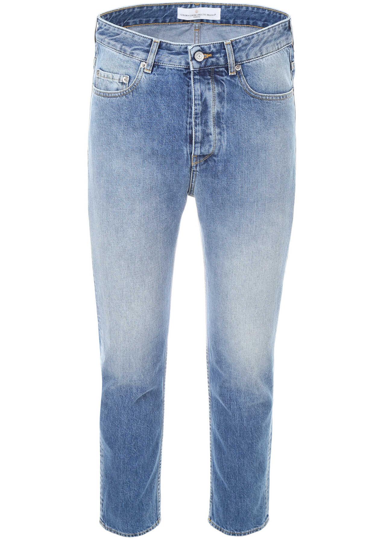 Golden Goose Golden Happy Jeans BLU WASH