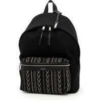 Rucsacuri Cotton And Leather Backpack Barbati