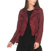 Jachete Women's Burgundy Jacket* Femei