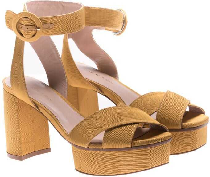 Stuart Weitzman Carmina Sandals Yellow