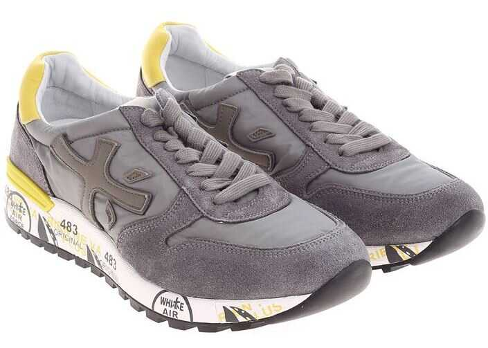 Premiata Gray And Taupe Mick Sneakers Gray