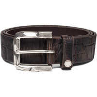 Curele Men's Croco Leather Brown Belt Barbati