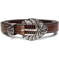 Curele Women's Leather Brown Belt With Studs Femei