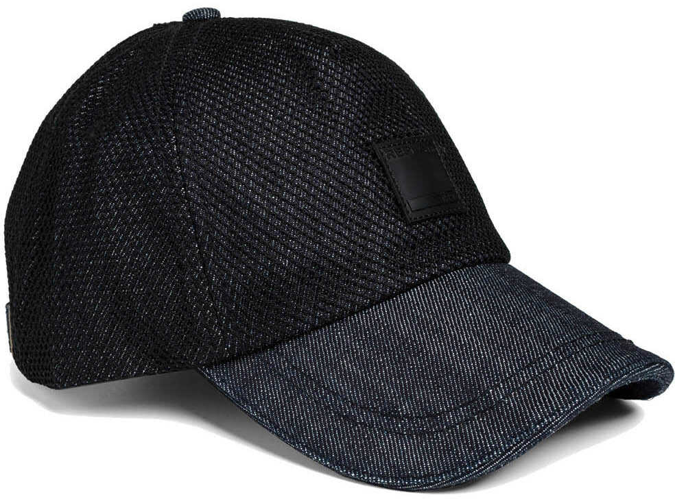 Replay Mens Blue Denim Baseball Cap Night Blue Denim