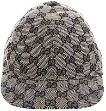Gucci Blue Monogram Cap Blue