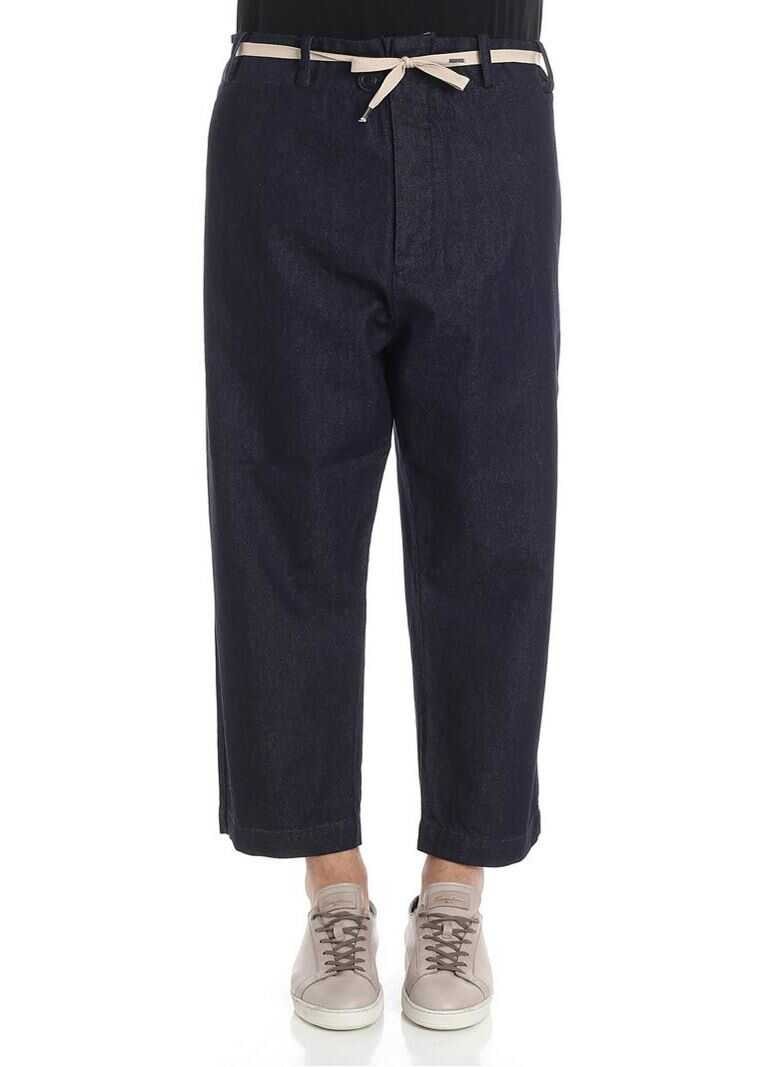 Vivienne Westwood Anglomania Alien Denim Trousers Blue