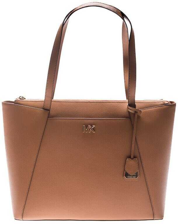 Michael Kors Brown Leather Maddie Bag Brown