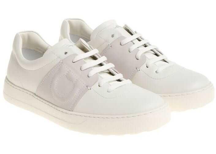 Salvatore Ferragamo White Cult Sneakers White