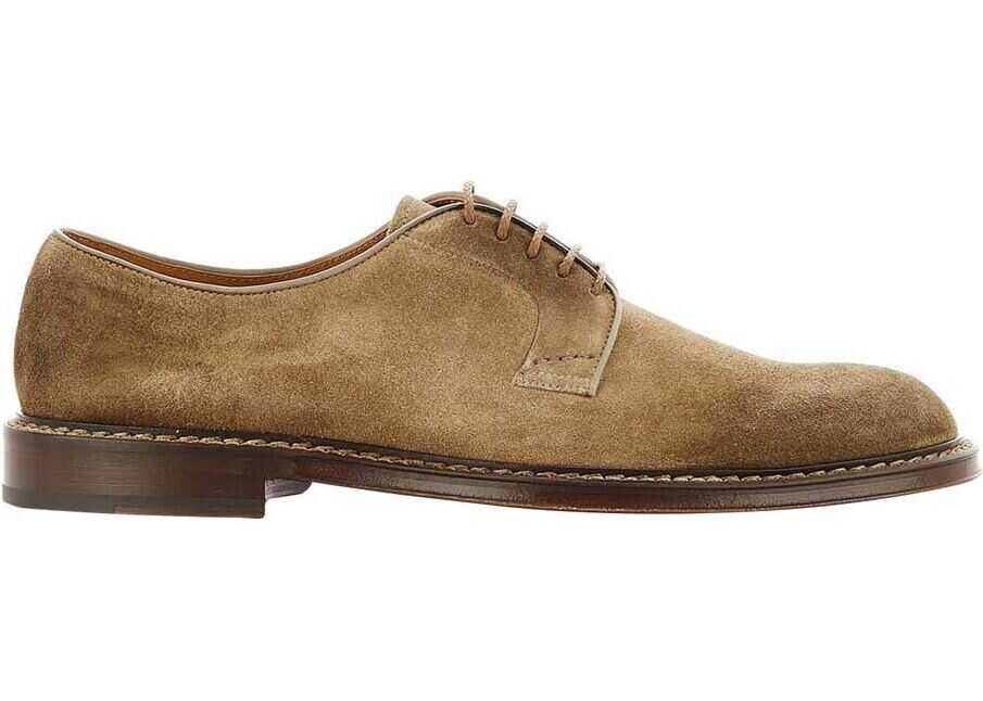 Doucals Suede Derby Shoes Brown