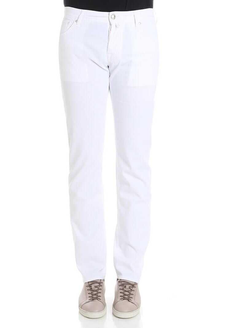 Jacob Cohen White Cotton Jeans White