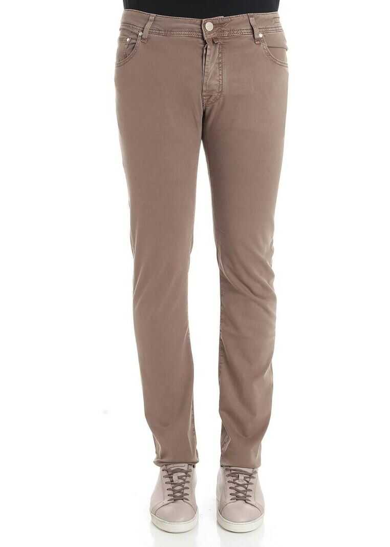 Jacob Cohen Brown Cotton Jeans Brown
