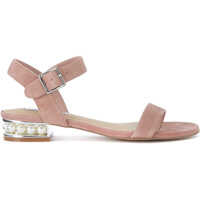 Sandale Cashmere Pink Leather Sandal With Pearls Femei