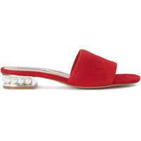 Sandale Steve Madden Costa Red Leather Sandal With Pearls