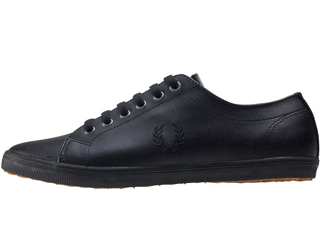 Fred Perry Kingston Unisex Trainers In Black Black Black