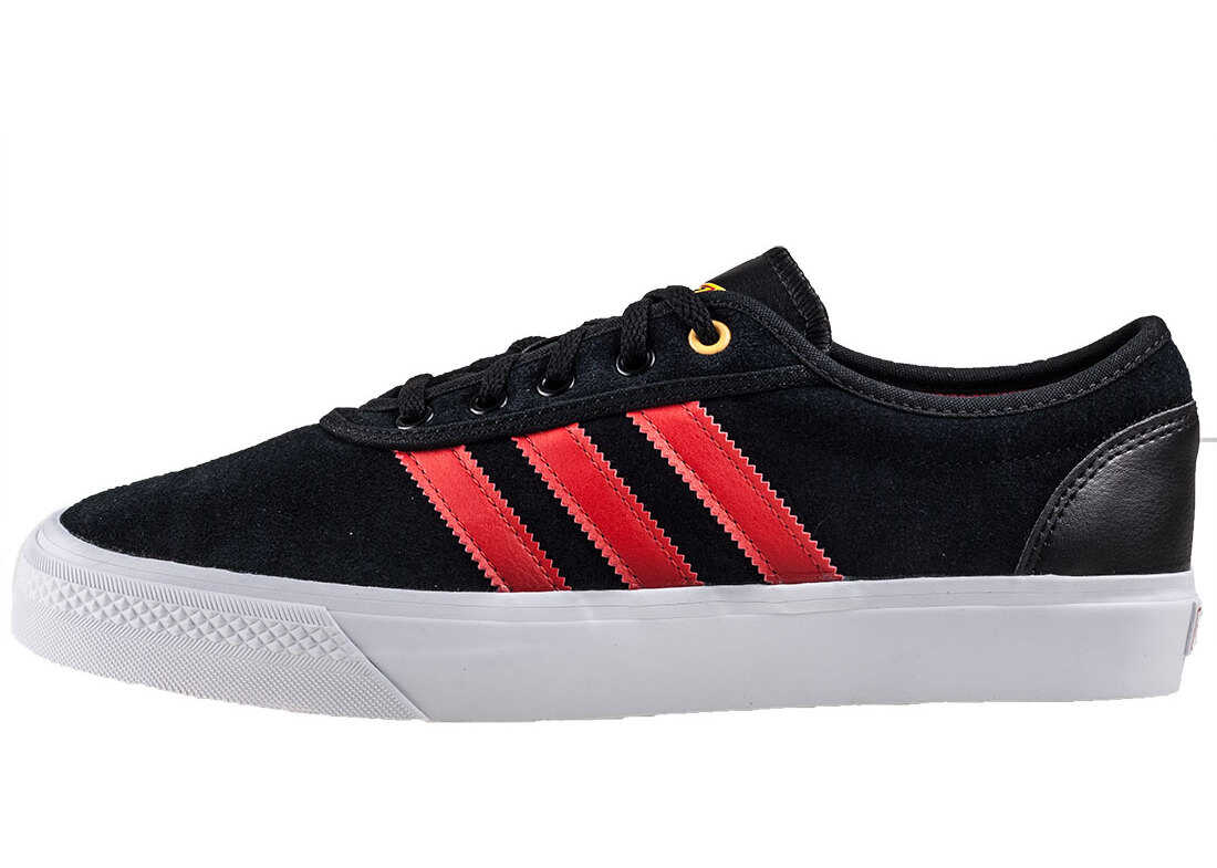 adidas Adi Ease Trainers In Black Red Black