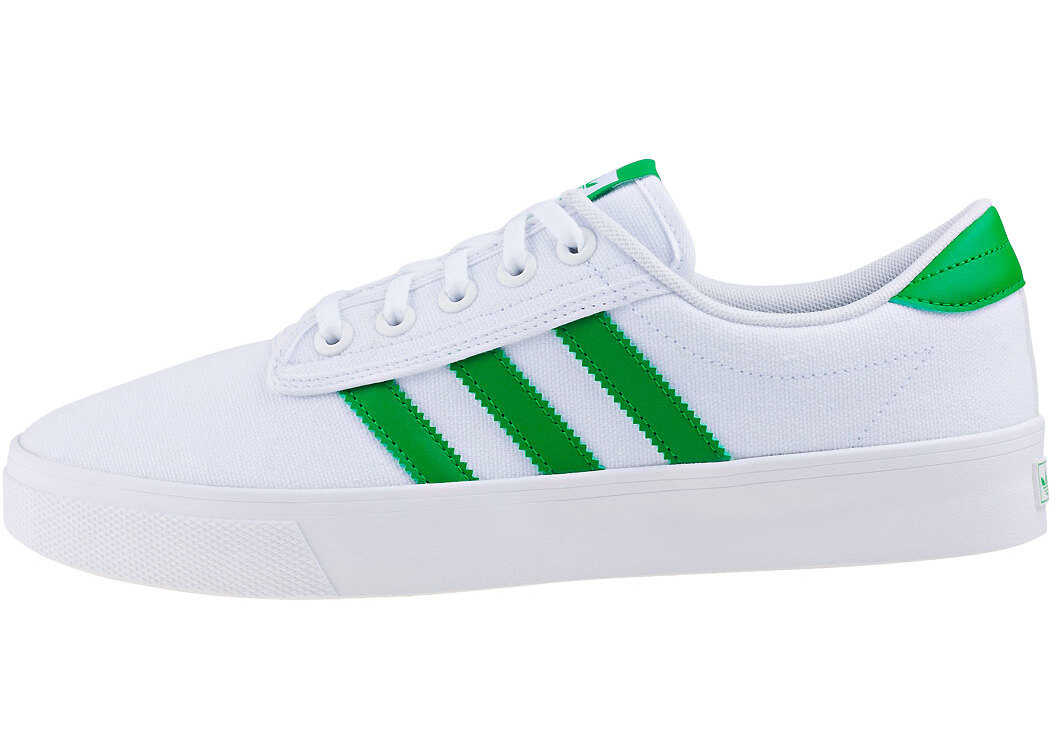 adidas Kiel Trainers In White Green White