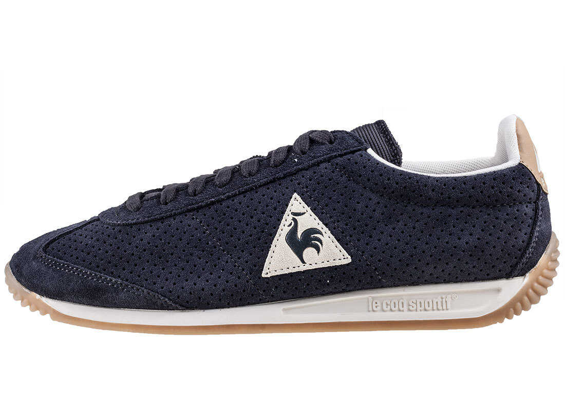 Le Coq Sportif Quartz Premium Trainers In Navy Blue