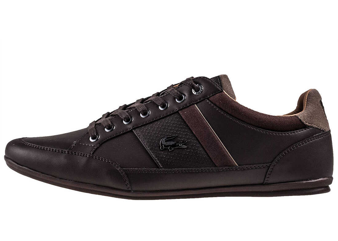 Lacoste Chaymon 118 1 Trainers In Dark Brown Brown