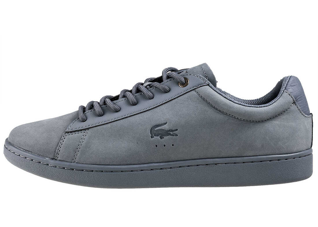 Lacoste Carnaby Eco 118 1 Trainers In Light Blue Blue